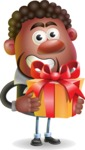 Vector 3D African American Businessman Cartoon Character AKA Brayden - Gift
