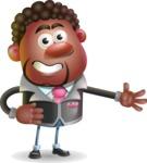 Vector 3D African American Businessman Cartoon Character AKA Brayden - Show