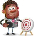 Vector 3D African American Businessman Cartoon Character AKA Brayden - Target
