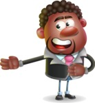 Vector 3D African American Businessman Cartoon Character AKA Brayden - Show 2