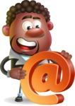 Vector 3D African American Businessman Cartoon Character AKA Brayden - Email
