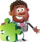 Vector 3D African American Businessman Cartoon Character AKA Brayden - Puzzle