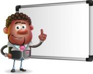 Vector 3D African American Businessman Cartoon Character AKA Brayden - Presentation 3