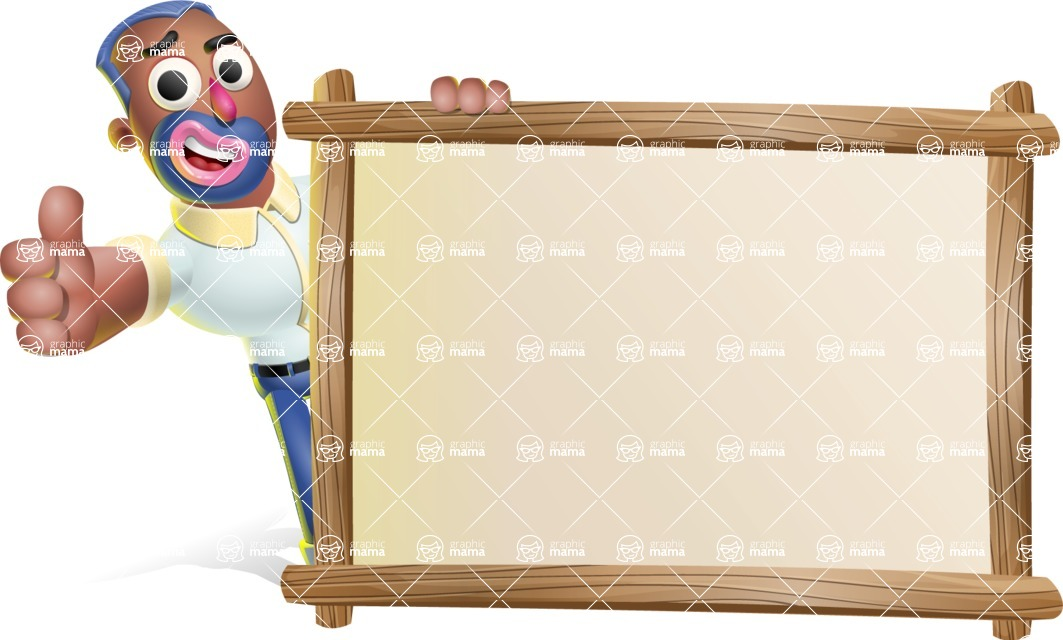 Male African American Cartoon Vector 3D Character AKA Jackson Blue - Presentation 5