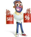 Male African American Cartoon Vector 3D Character AKA Jackson Blue - Sale 2