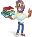 Male African American Cartoon Vector 3D Character AKA Jackson Blue - Book 2