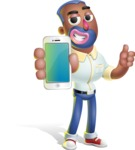 Male African American Cartoon Vector 3D Character AKA Jackson Blue - iPhone