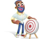 Male African American Cartoon Vector 3D Character AKA Jackson Blue - Target