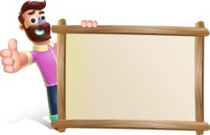 Plasticine Man Cartoon Vector Character AKA Gerald MacBeard - Presentation 5