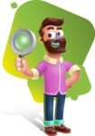 Plasticine Man Cartoon Vector Character AKA Gerald MacBeard - Shape 5