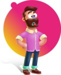 Plasticine Man Cartoon Vector Character AKA Gerald MacBeard - Shape 7