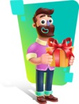 Plasticine Man Cartoon Vector Character AKA Gerald MacBeard - Shape 8
