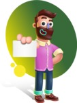 Plasticine Man Cartoon Vector Character AKA Gerald MacBeard - Shape 9