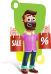 Plasticine Man Cartoon Vector Character AKA Gerald MacBeard - Shape 11