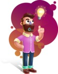Plasticine Man Cartoon Vector Character AKA Gerald MacBeard - Shape 12