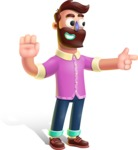 Plasticine Man Cartoon Vector Character AKA Gerald MacBeard - Direct Attention 2
