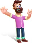 Plasticine Man Cartoon Vector Character AKA Gerald MacBeard - Hello