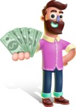 Plasticine Man Cartoon Vector Character AKA Gerald MacBeard - Show me  the Money