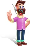 Plasticine Man Cartoon Vector Character AKA Gerald MacBeard - Support 2