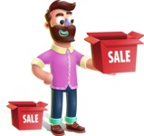 Plasticine Man Cartoon Vector Character AKA Gerald MacBeard - Sale