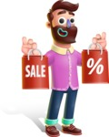Plasticine Man Cartoon Vector Character AKA Gerald MacBeard - Sale 2