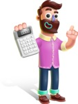 Plasticine Man Cartoon Vector Character AKA Gerald MacBeard - Calculator