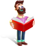 Plasticine Man Cartoon Vector Character AKA Gerald MacBeard - Book 1