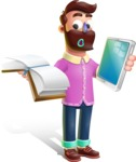 Plasticine Man Cartoon Vector Character AKA Gerald MacBeard - Book and iPad