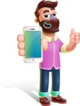 Plasticine Man Cartoon Vector Character AKA Gerald MacBeard - iPhone