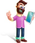 Plasticine Man Cartoon Vector Character AKA Gerald MacBeard - iPad 3