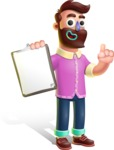Plasticine Man Cartoon Vector Character AKA Gerald MacBeard - Notepad 1