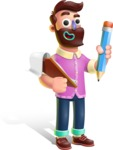 Plasticine Man Cartoon Vector Character AKA Gerald MacBeard - Notepad 3