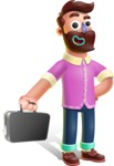 Plasticine Man Cartoon Vector Character AKA Gerald MacBeard - Briefcase 1