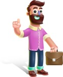 Plasticine Man Cartoon Vector Character AKA Gerald MacBeard - Briefcase 2