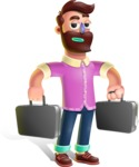 Plasticine Man Cartoon Vector Character AKA Gerald MacBeard - Briefcase 3