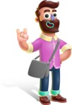 Plasticine Man Cartoon Vector Character AKA Gerald MacBeard - Travel 2