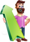 Plasticine Man Cartoon Vector Character AKA Gerald MacBeard - Pointer 1