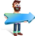 Plasticine Man Cartoon Vector Character AKA Gerald MacBeard - Pointer 2