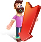 Plasticine Man Cartoon Vector Character AKA Gerald MacBeard - Pointer 3