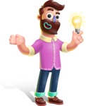 Plasticine Man Cartoon Vector Character AKA Gerald MacBeard - Idea 1