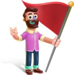 Plasticine Man Cartoon Vector Character AKA Gerald MacBeard - Checkpoint