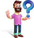 Plasticine Man Cartoon Vector Character AKA Gerald MacBeard - Question