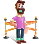 Plasticine Man Cartoon Vector Character AKA Gerald MacBeard - Under Construction 2