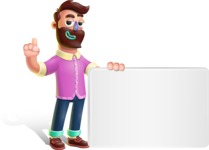 Plasticine Man Cartoon Vector Character AKA Gerald MacBeard - Sign 7