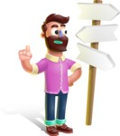 Plasticine Man Cartoon Vector Character AKA Gerald MacBeard - Crossroad