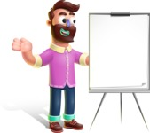 Plasticine Man Cartoon Vector Character AKA Gerald MacBeard - Presentation 1