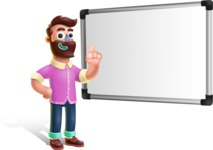 Plasticine Man Cartoon Vector Character AKA Gerald MacBeard - Presentation 3