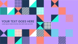 vector backgrounds - a rich collection (vector pack) of beautiful shapes and modern color palettes - Colorful Flat Shapes Background
