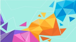 vector backgrounds - a rich collection (vector pack) of beautiful shapes and modern color palettes - Vector Polygon Background