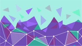 vector backgrounds - a rich collection (vector pack) of beautiful shapes and modern color palettes - Vector Background with Polygon Elements
